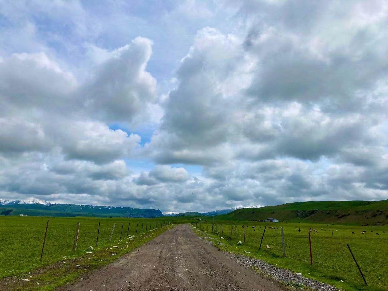 图:唐布拉山麓的山路